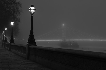 Albert Bridge fog