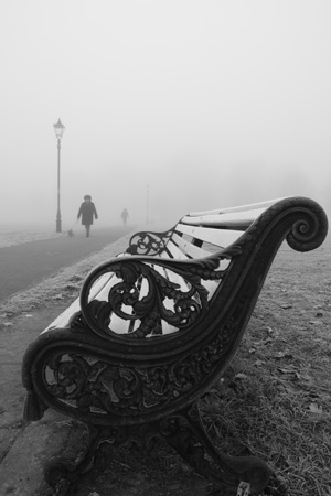 Clapham Common freezing fog