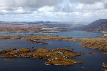 Isle of North Uist rainbow, Outer Hebrides